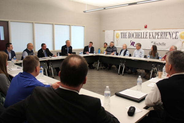 Governor Rauner Meets Local Business Leaders at Rochelle Business and Technology Park
